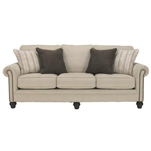 Ashley (Signature Design) Milari - Linen Queen Sofa Sleeper