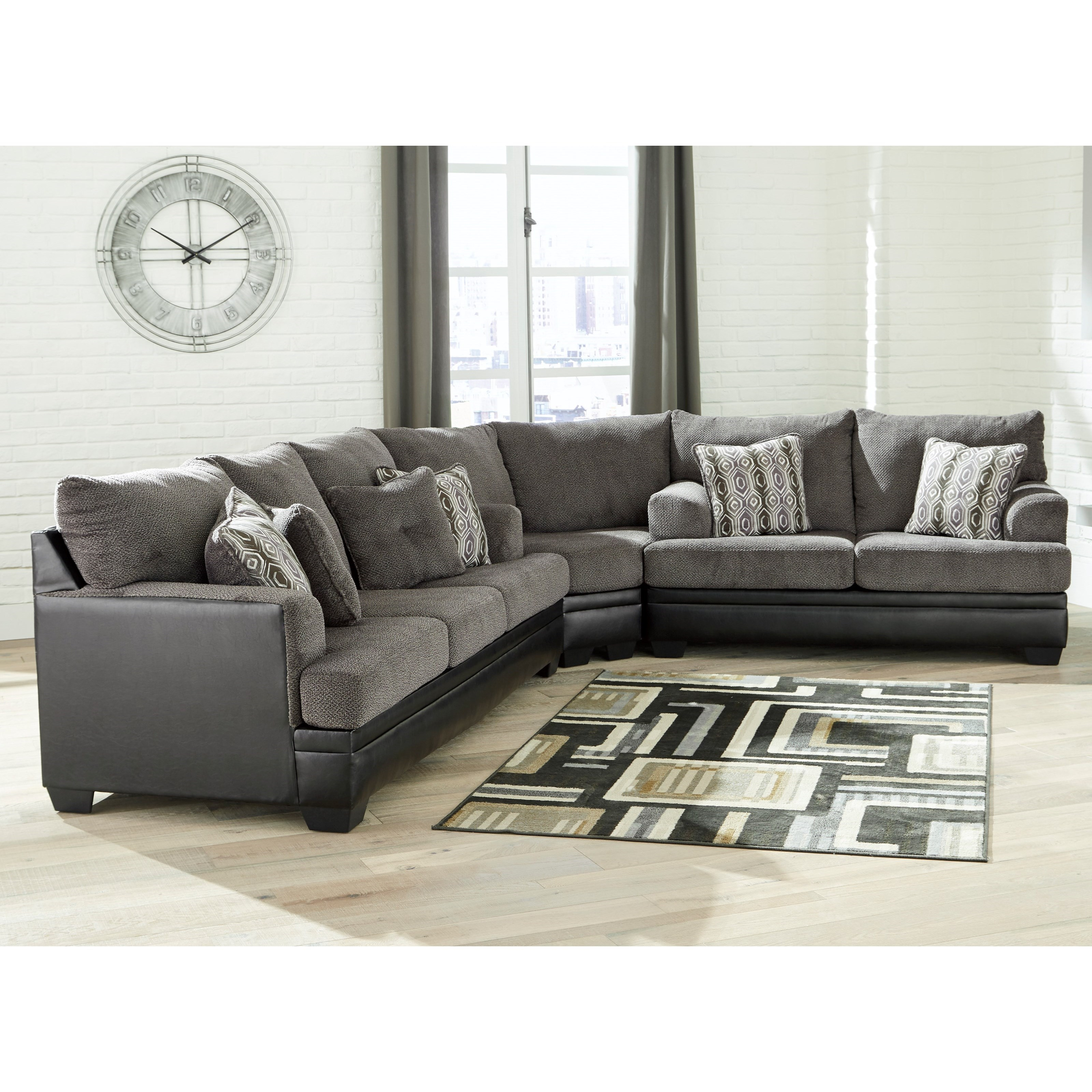 Contemporary Sectional: Contemporary Sectional With Sleeper Sofa By Signature