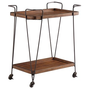 Contemporary Kitchen Cart with Casters