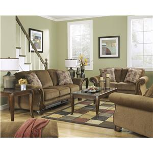 Ashley (Signature Design) Montgomery - Mocha Stationary Living Room Group