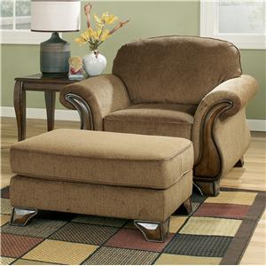 Signature Design by Ashley Montgomery - Mocha Chair & Ottoman