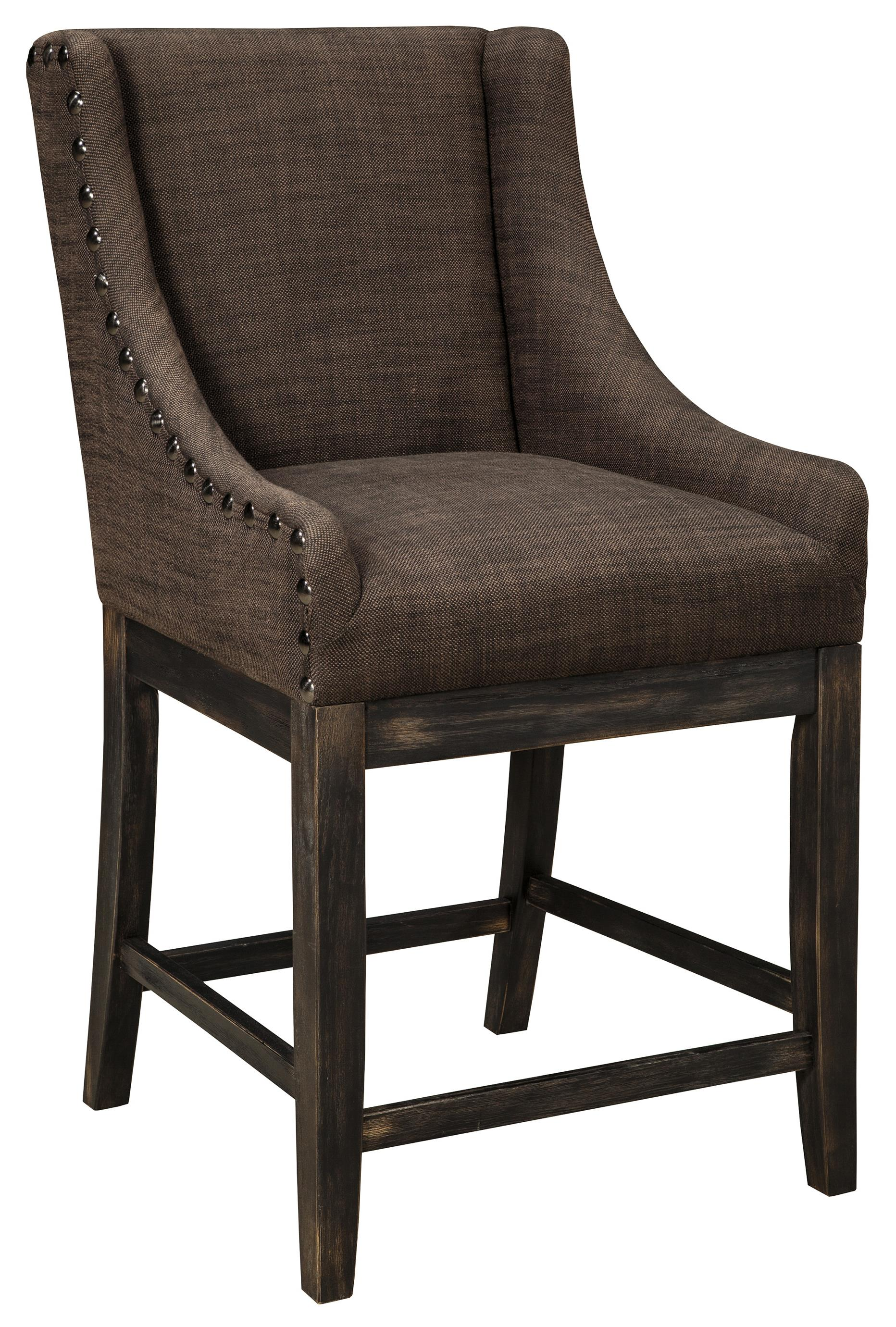 Upholstered Barstool with Sloping Wing Arms amp Textured  : products2Fsignaturedesignbyashley2Fcolor2Fmoriannd608 424 b0 from www.wolffurniture.com size 1864 x 2761 jpeg 660kB