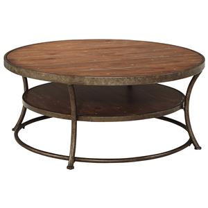 Signature Design by Ashley Nartina Round Cocktail Table