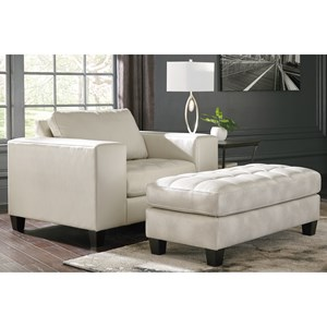 Contemporary Chair And A Half With Ottoman