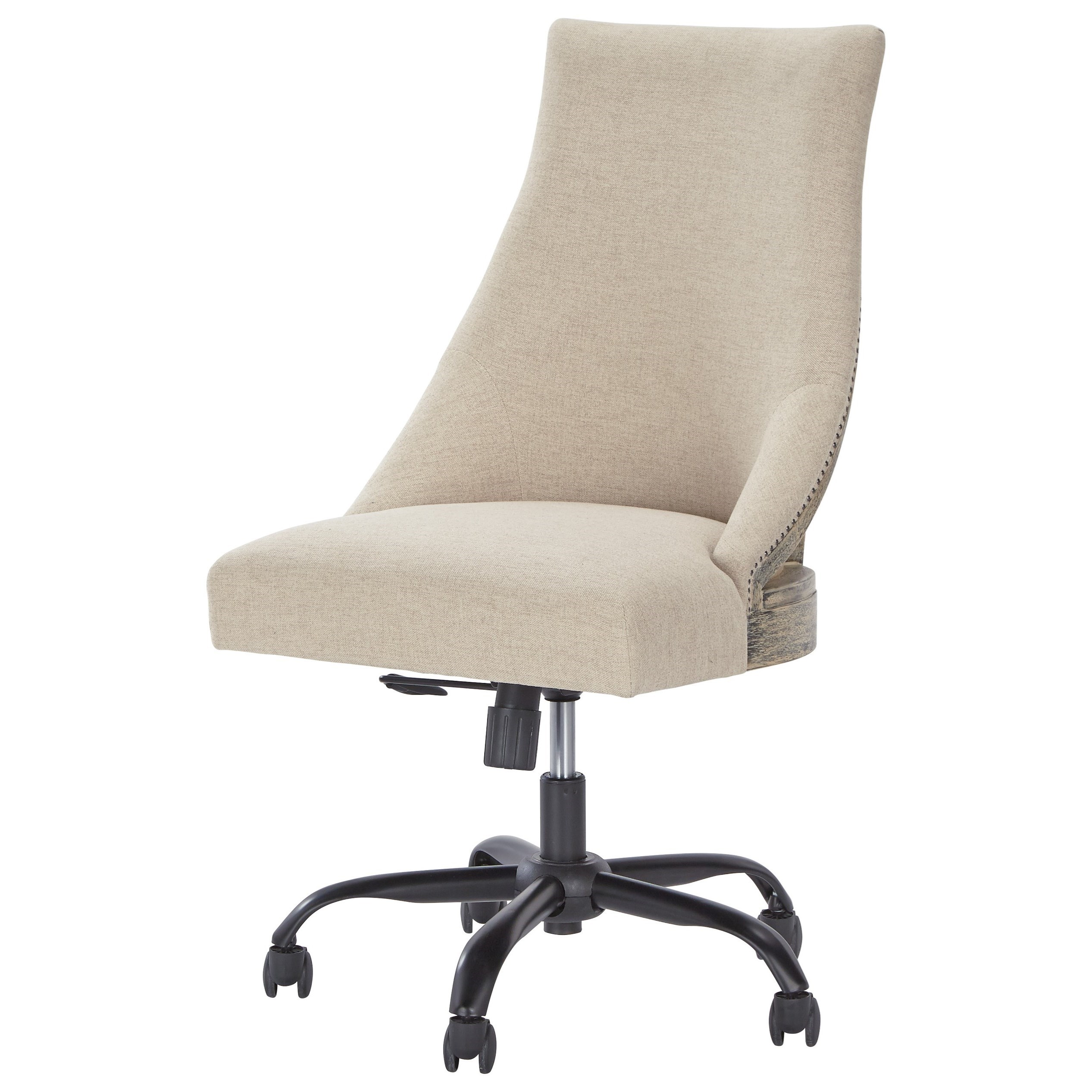 Home Office Swivel Desk Chair In Deconstructed Style By
