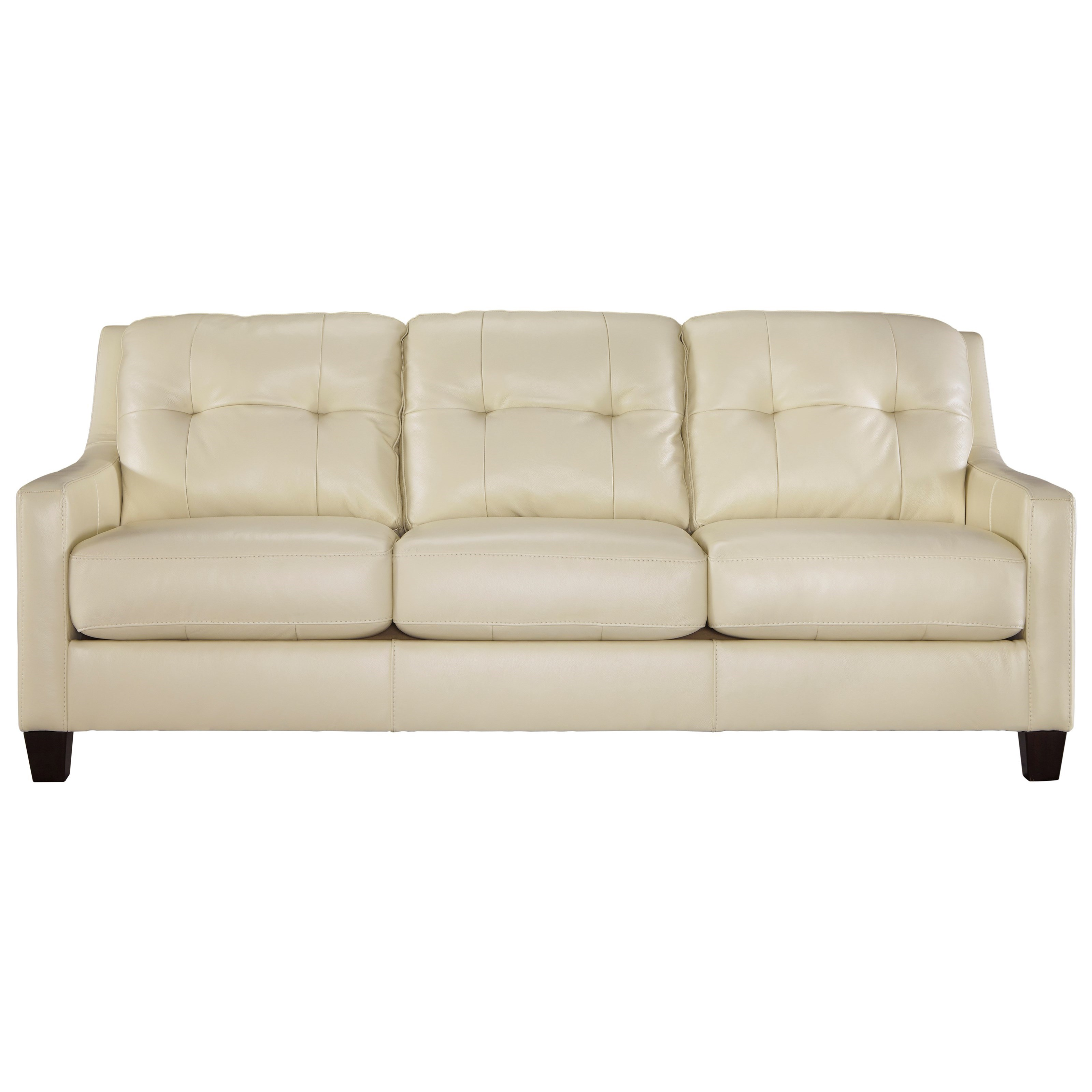 Contemporary Leather Match Queen Sofa Sleeper By Signature Design By Ashley Wolf And Gardiner