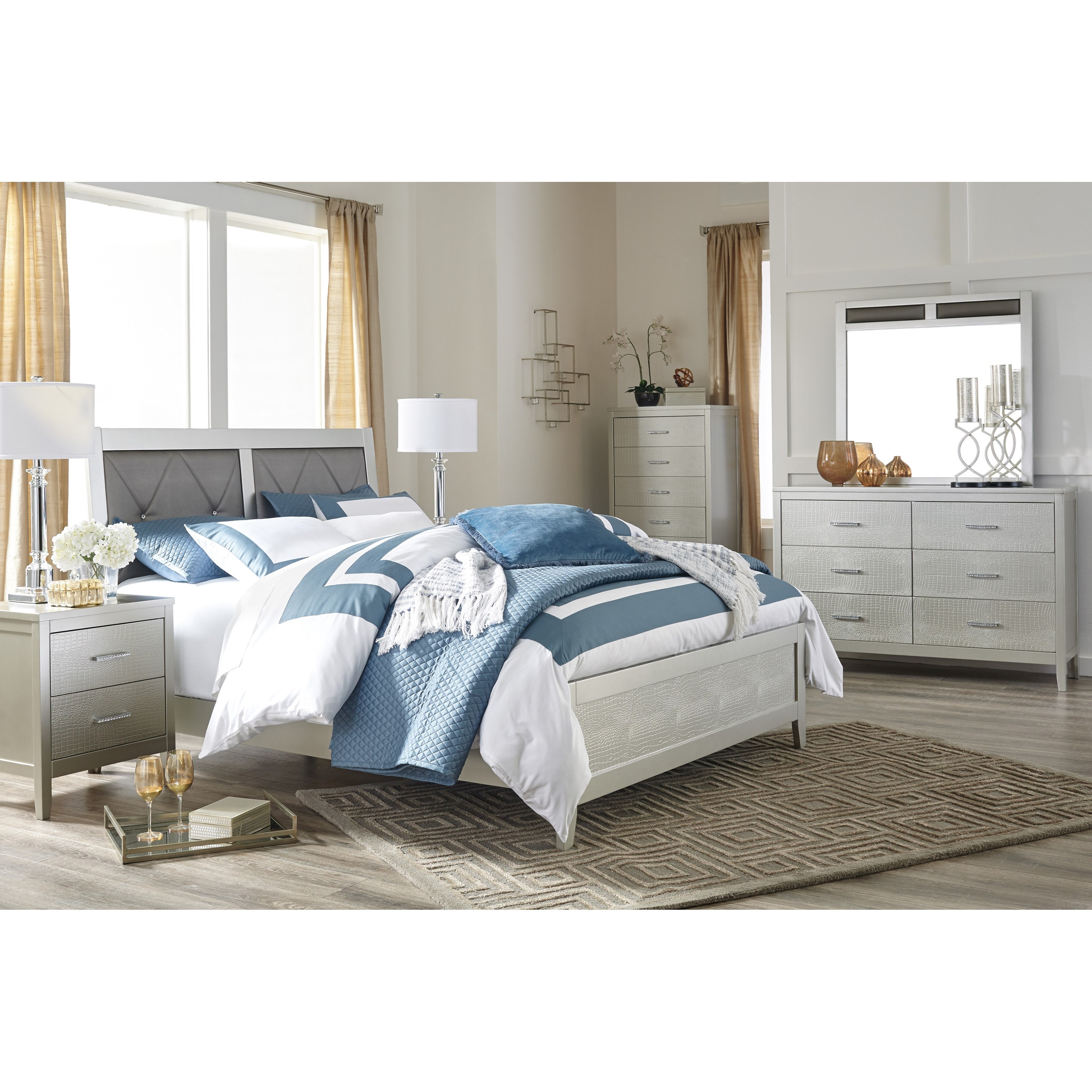 Glam King Bedroom Group by Signature Design by Ashley | Wolf ...