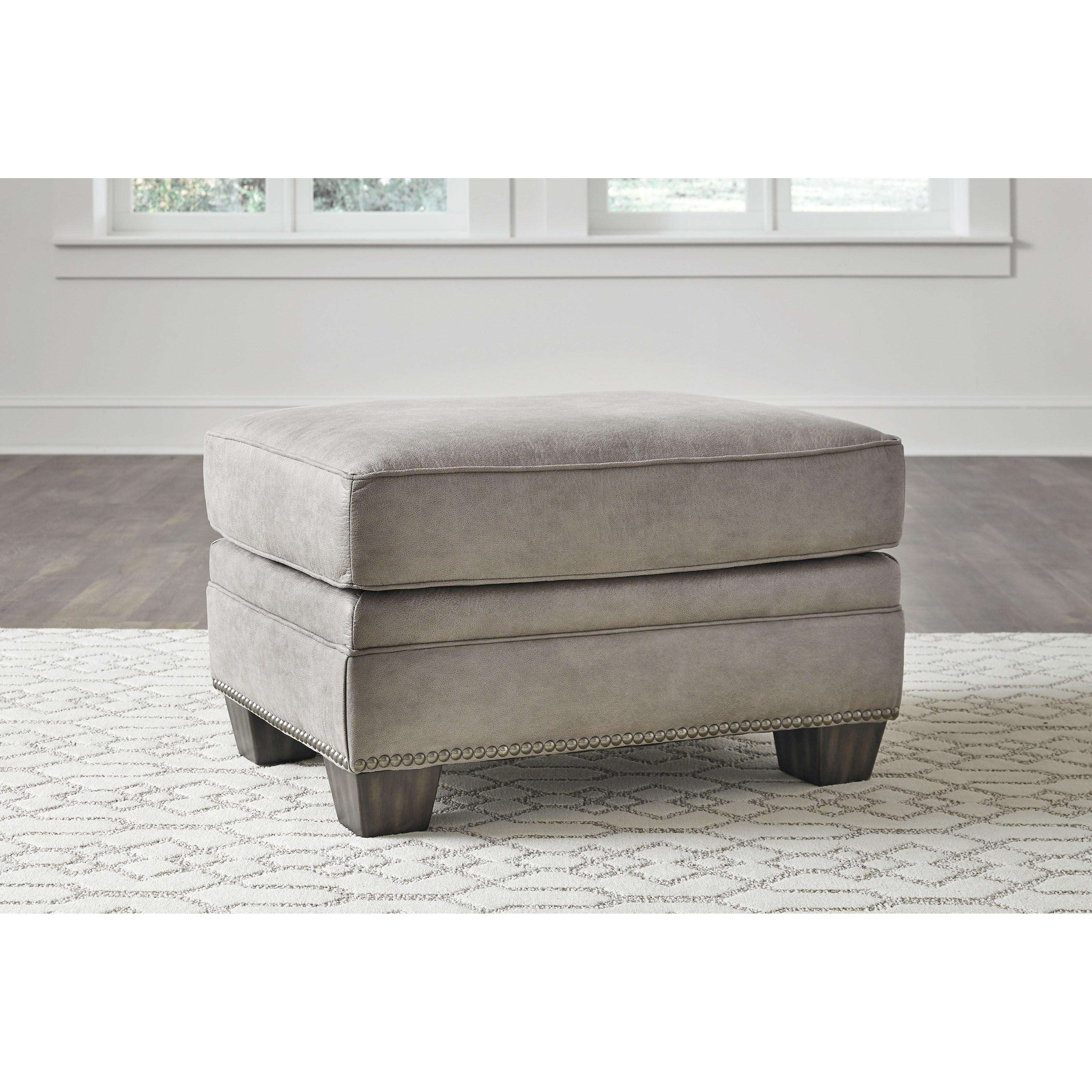 Ottoman With Nailhead Trim By Signature Design By Ashley