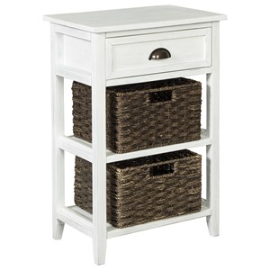 Accent Table with 2 Woven Baskets