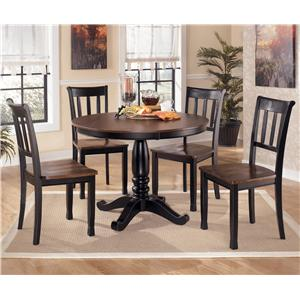 Signature Design By Ashley Owingsville Round Dining Room