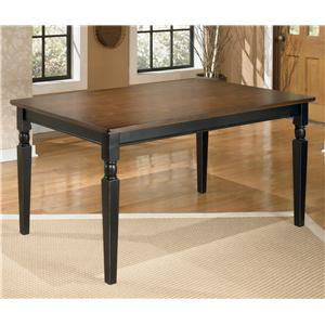 Signature Design by Ashley Owingsville Rectangular Dining Room Table