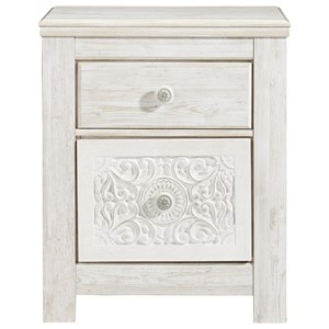 2-Drawer Nightstand with USB Port