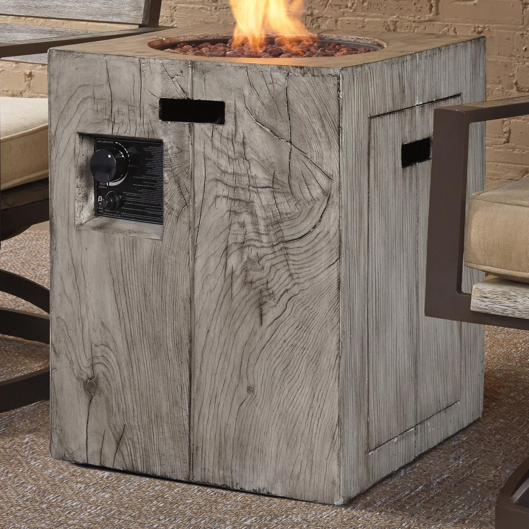 Rustic Style Fire Column by Signature Design by Ashley : Wolf and Gardiner Wolf Furniture