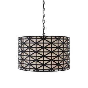 Signature Design by Ashley Pendant Lights Damali Black Metal Pendant Light