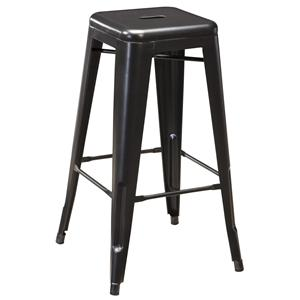 Retro Contemporary Metal Tall Stool