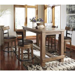 Signature Design by Ashley Pinnadel 5-Piece Counter Table Set