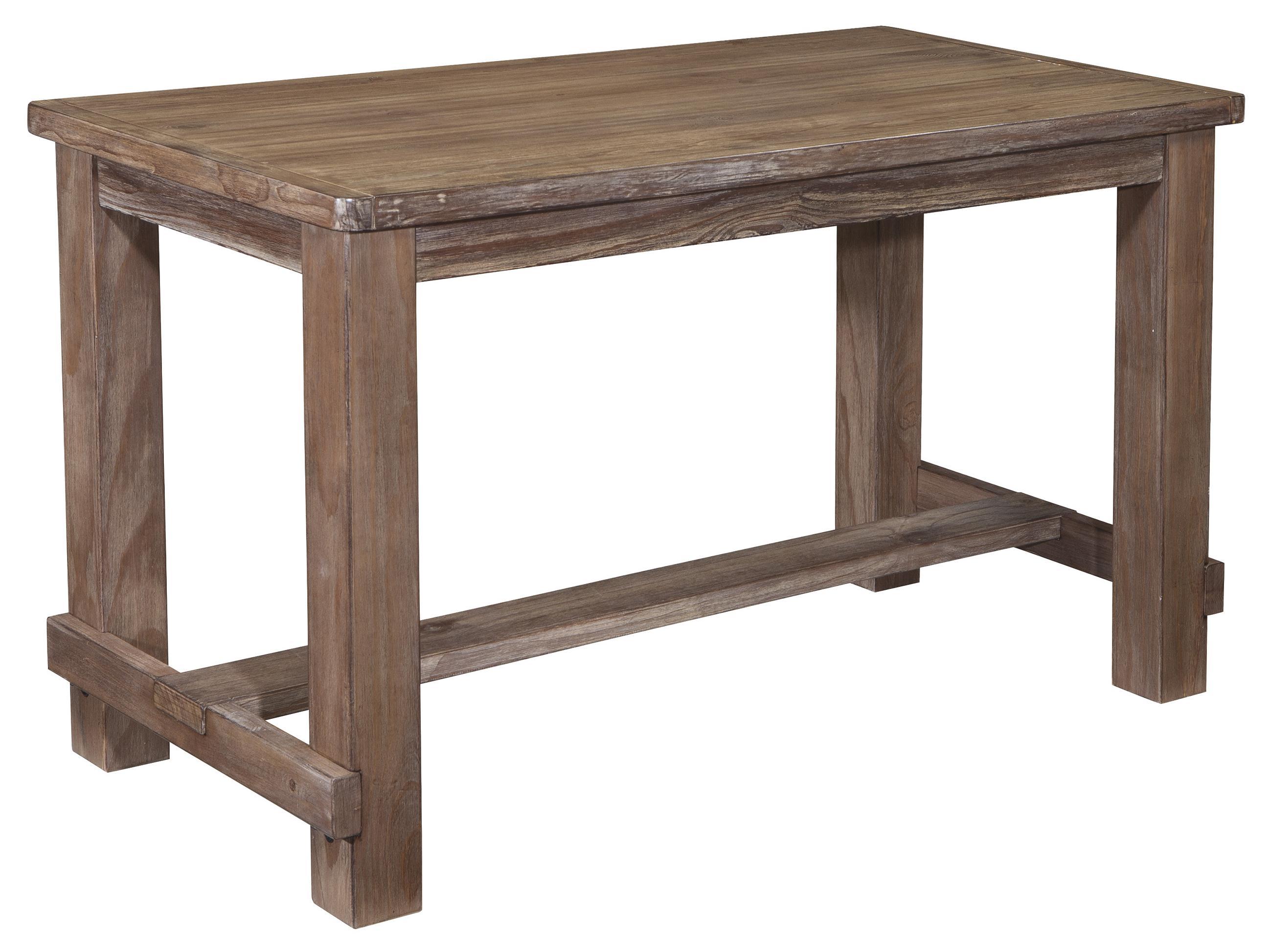 Rectangular Pine Veneer Dining Room Counter Table In Wire