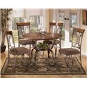 Signature Design by Ashley Plentywood 5-Piece Round Dining Table Set