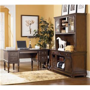 Signature Design by Ashley Porter L-Shape Desk with Large Storage Leg Desk