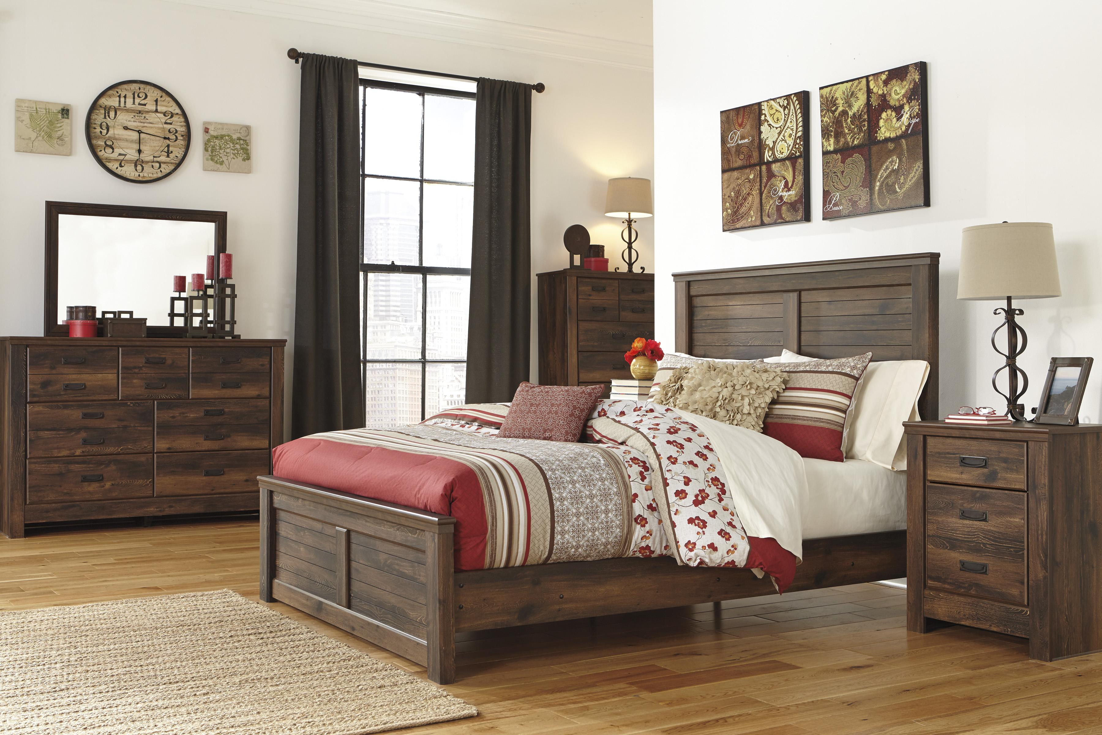 Queen Panel Bed with Low-Profile Footboard by Signature Design by ...