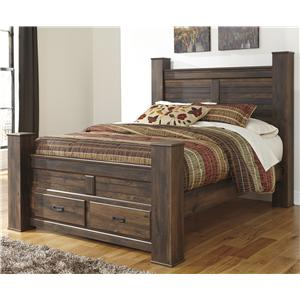 Signature Design by Ashley Furniture Quinden Queen Poster Bed with Storage