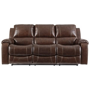 Power Reclining Sofa with Bustle Back