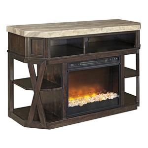 Signature Design by Ashley Radilyn Medium TV Stand with Fireplace Insert