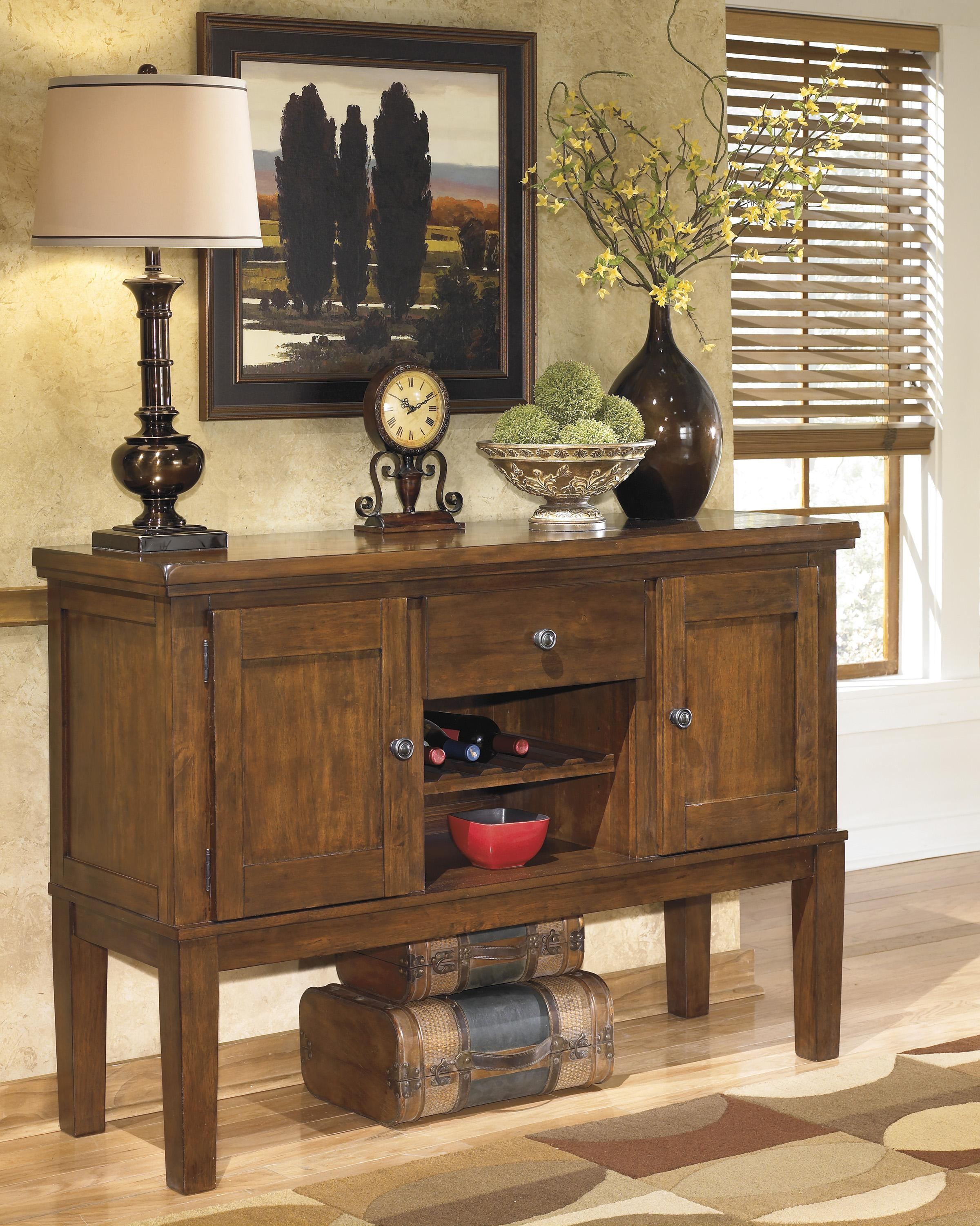 Casual Dining Room Server With Wine Rack by Signature ...