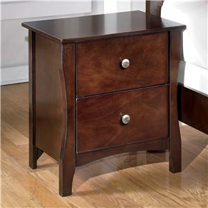 Signature Design by Ashley Rayville Two Drawer Night Stand