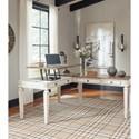 L Shape Desk with Lift Top