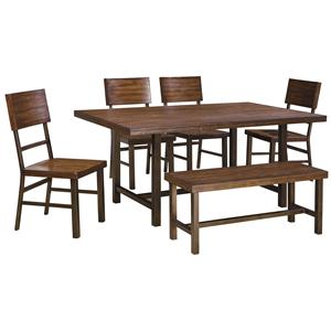 Signature Design by Ashley Riggerton Table Set with Bench