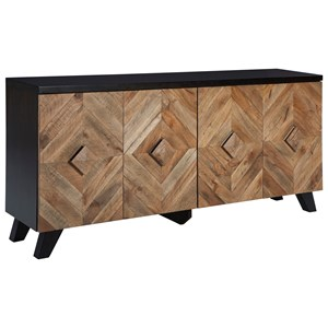 Contemporary 4-Door Accent Cabinet