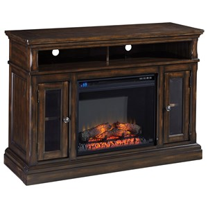Transitional Medium TV Stand with Fireplace