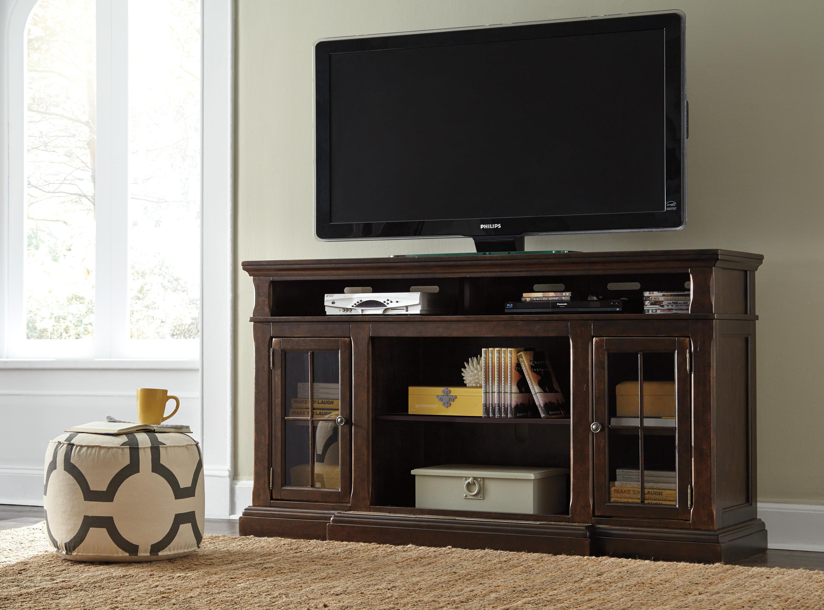 Extra Large Tv Stand With Breakfront Amp 2 Glass Doors By