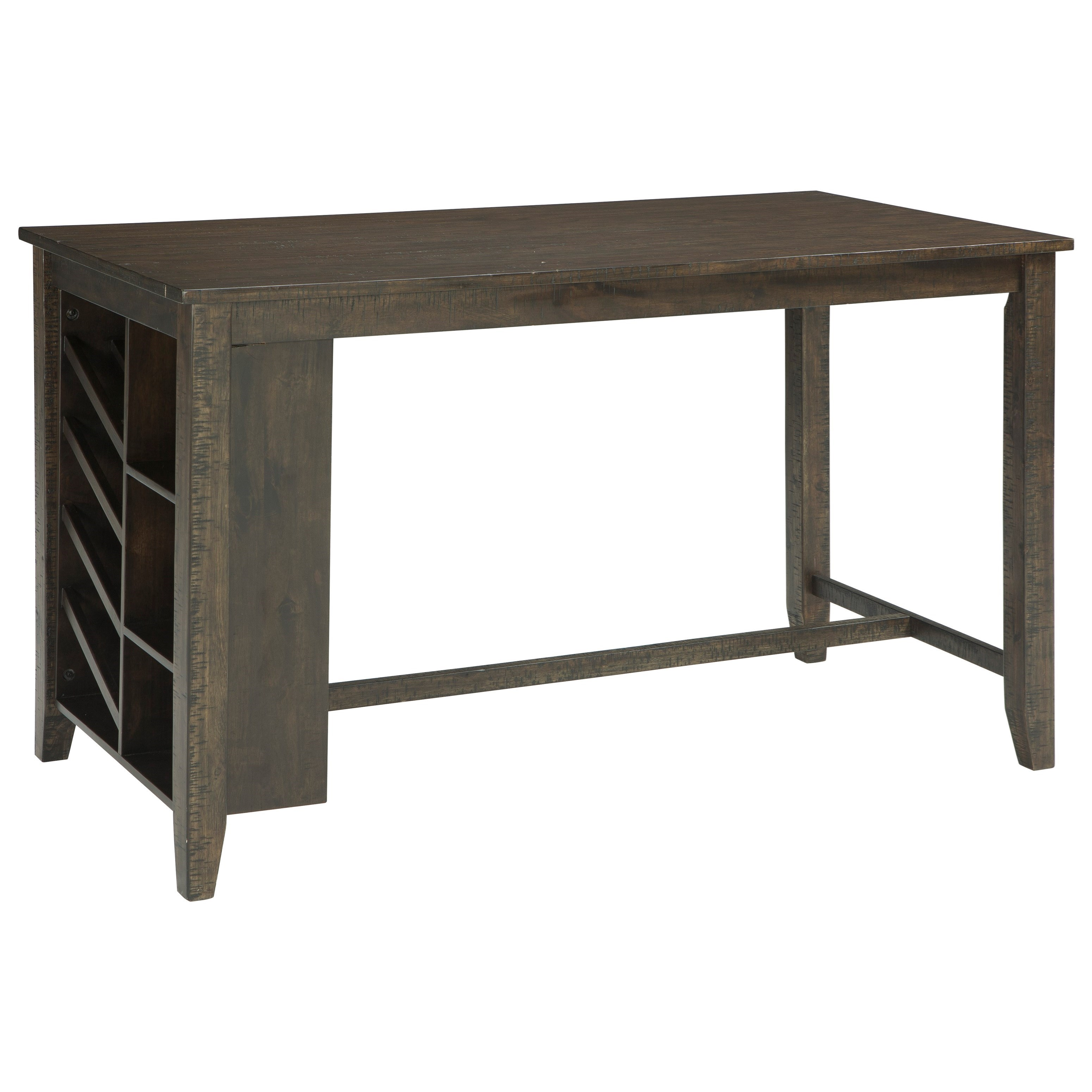 Rectangular Counter Table w/ Storage and Wine Rack