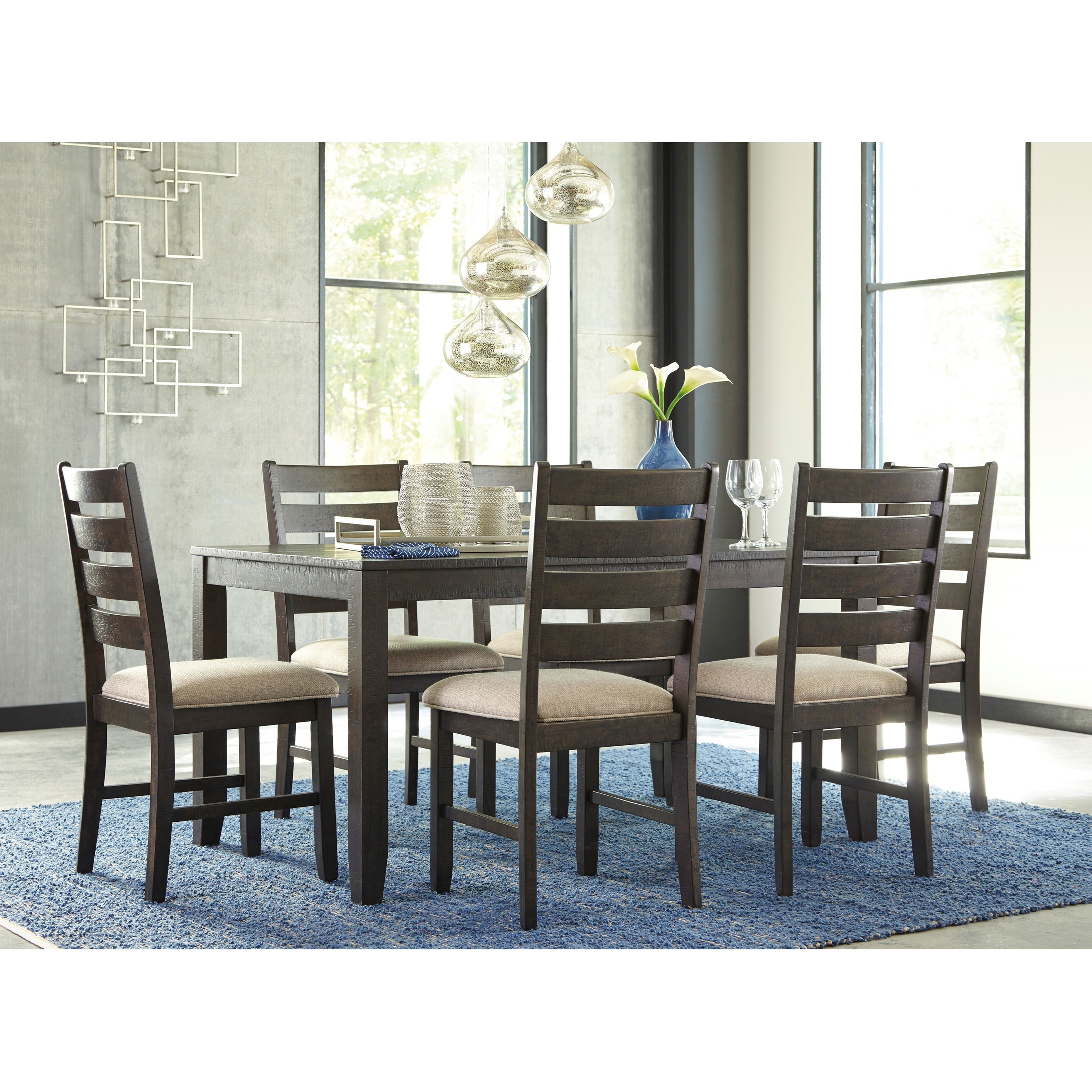 Contemporary 7 Piece Dining Room Table Set