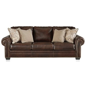 Transitional Queen Sofa Sleeper with Nailhead Trim