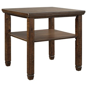 Rustic Rectangular End Table