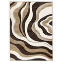 Signature Design by Ashley Contemporary Area Rugs Rivoletto - Brown  Medium Rug - Item Number: R230002