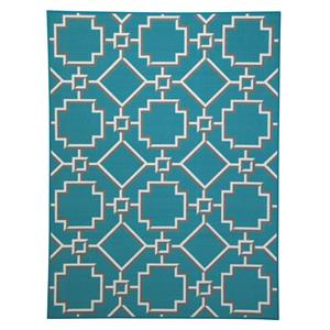 Signature Design by Ashley Transitional Area Rugs Zarek Turquoise Medium Rug