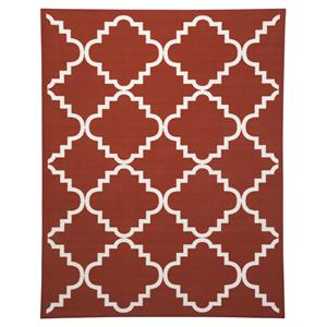 Signature Design by Ashley Transitional Area Rugs Bandele Orange/White Medium Rug