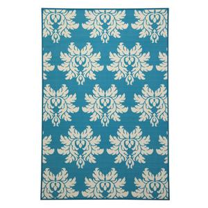 Signature Design by Ashley Transitional Area Rugs Lia Turquoise Medium Rug