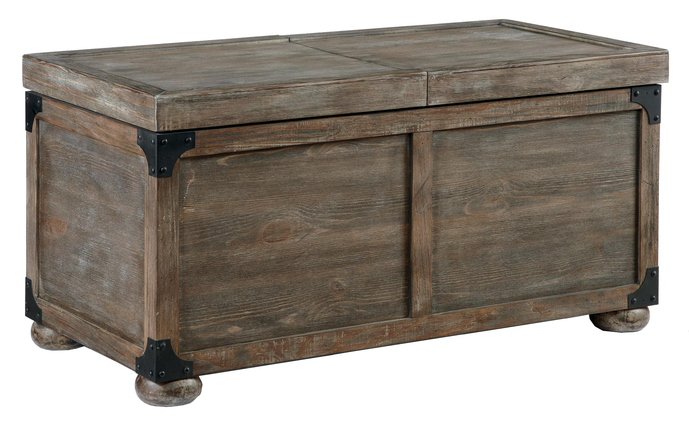 Wonderful Trunk Style Rustic Storage Cocktail Table