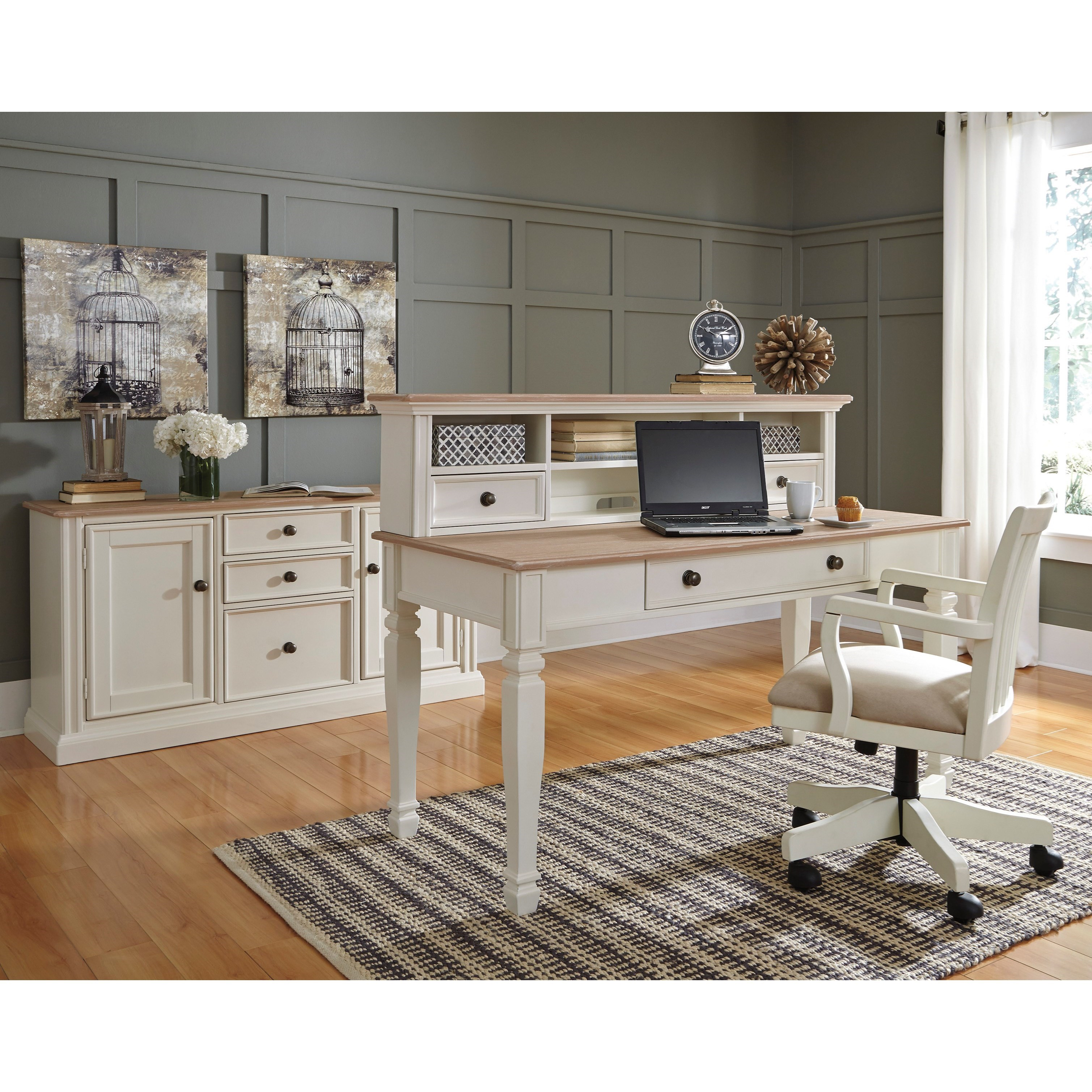 and desk computer black for vintage ideas home oak spaces painted drawers marble furniture wood drawer small office with top