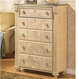 Signature Design by Ashley Saveaha Five Drawer Chest