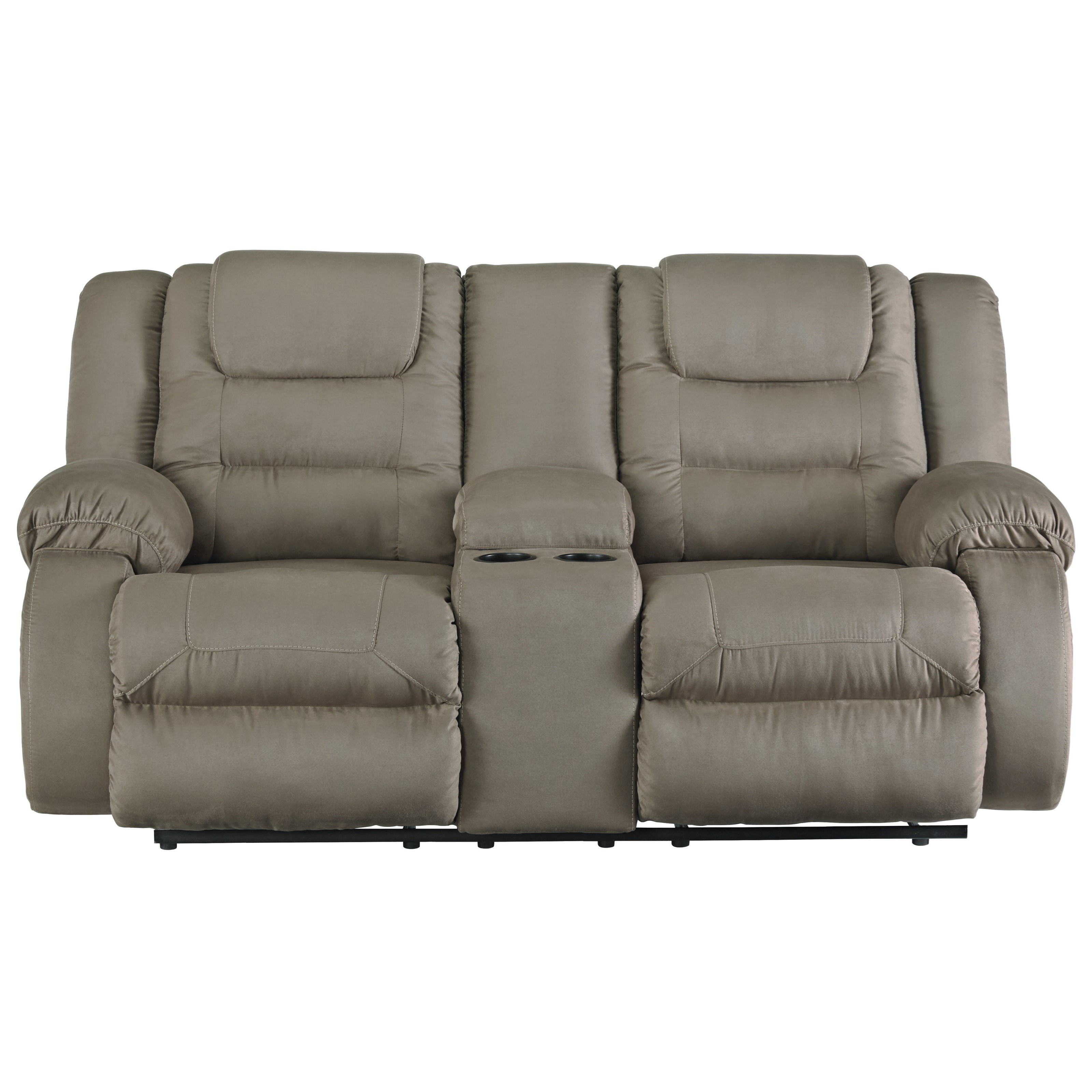 Double Reclining Loveseat With Center Console By Signature