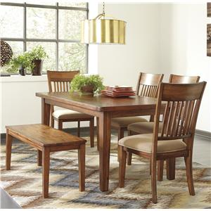 Signature Design by Ashley Shallibay 6-Piece Table Set with Bench