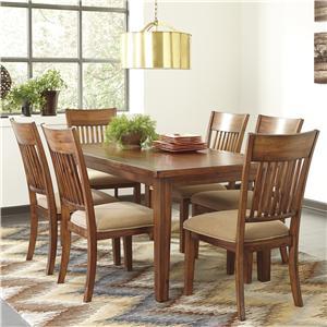 Signature Design by Ashley Shallibay 7-Piece Rectangular Table Set