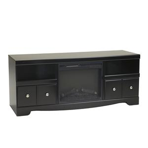 Large Contemporary TV Stand with Fireplace