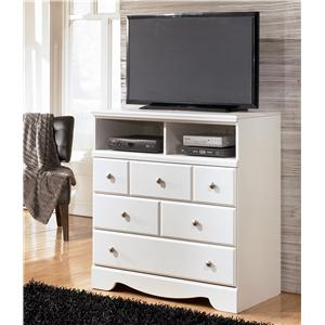 Signature Design by Ashley Furniture Weeki 3 Drawer Media Chest
